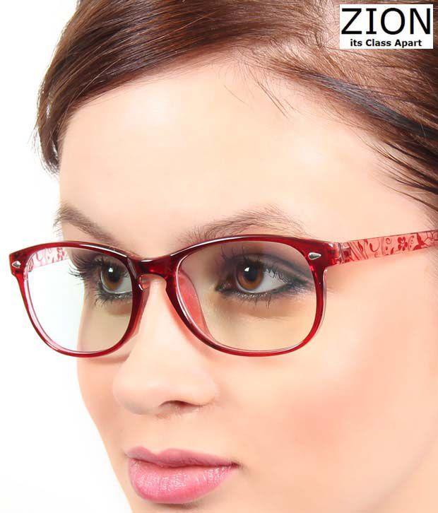 Zion Trendy Maroon Wafarer Optical Frame