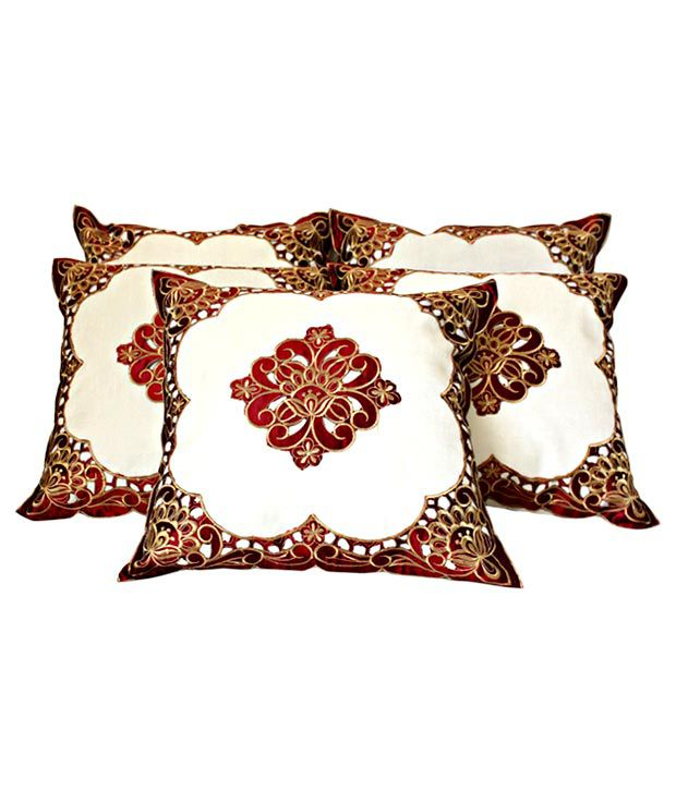 Dekor World Floral Cushion Covers- 5 Pcs