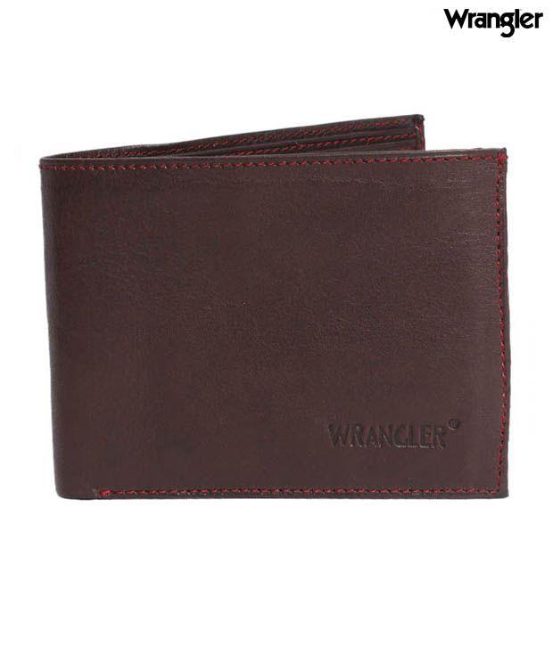 Wrangler Brown Textured Finish Wallet