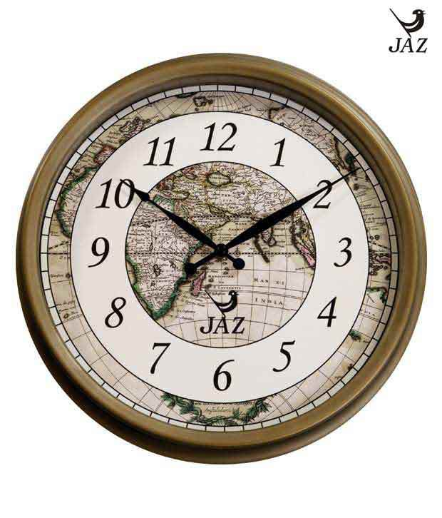 Jaz round wall clock with world map background buy jaz round wall jaz round wall clock with world map background gumiabroncs Gallery