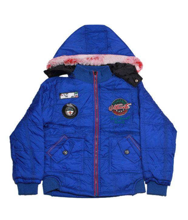 Fort Collins Royal Blue Hooded Jacket For Kids
