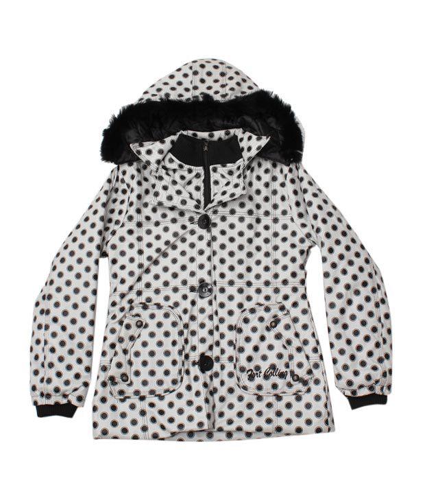 Fort Collins White Black Polka Dot Jacket For Kids
