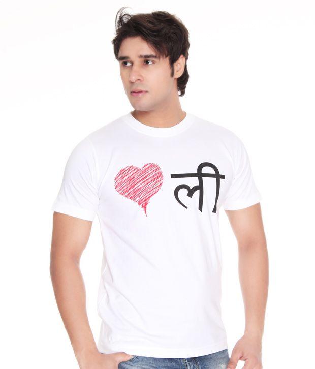 Casual Tees Love Delhi White T Shirt