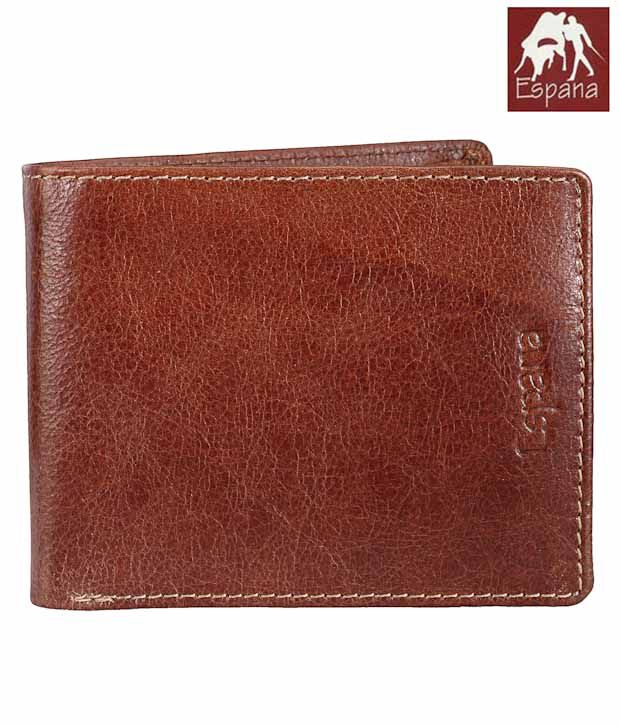 Espana Brown Textured Finish Wallet