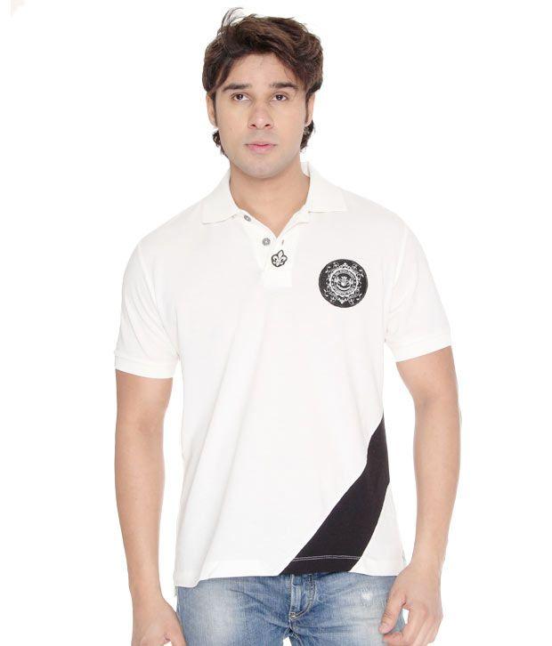 USI Classic Off White-Black T-Shirt