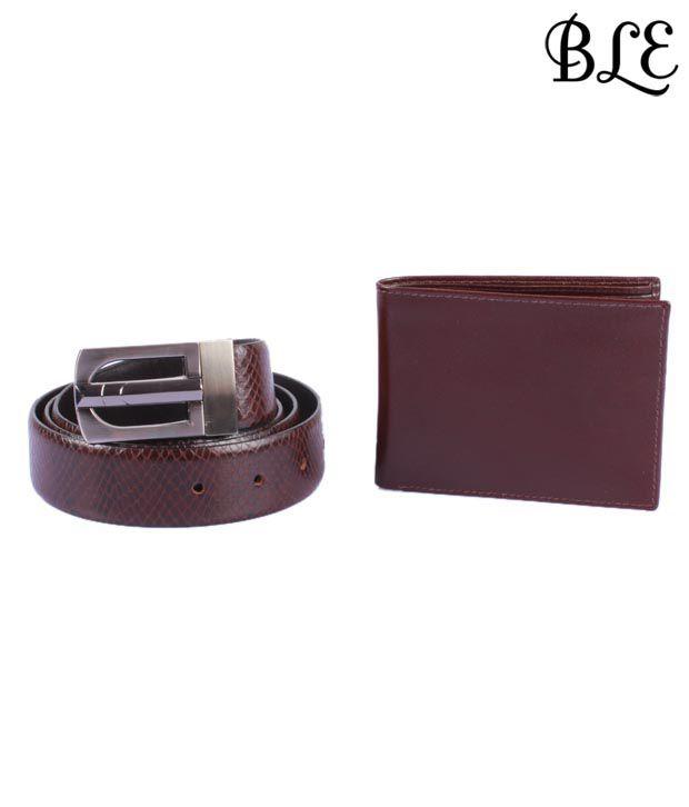 BLE Enchanting Gift Set OF Gents Wallet & Belt
