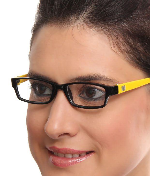 Teenager Vivacious Black & Yellow Optical Frame