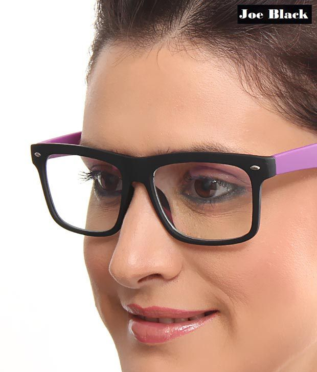 Joe Black Stylish Black Purple Optical Frame