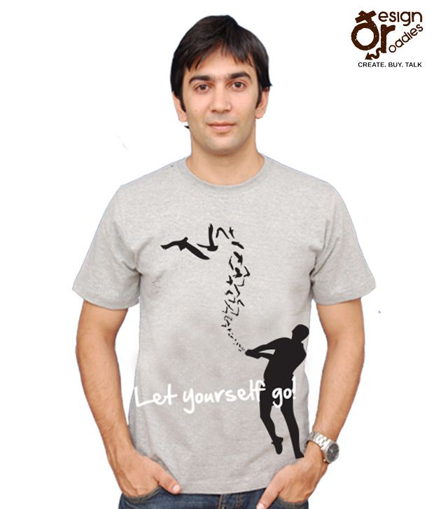 Design Roadies Let Yourself Go Grey T-shirt- 110100103