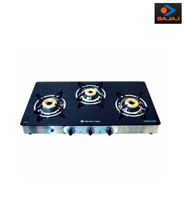 Bajaj CGX 3 3 Burner Glass Gas cooktop