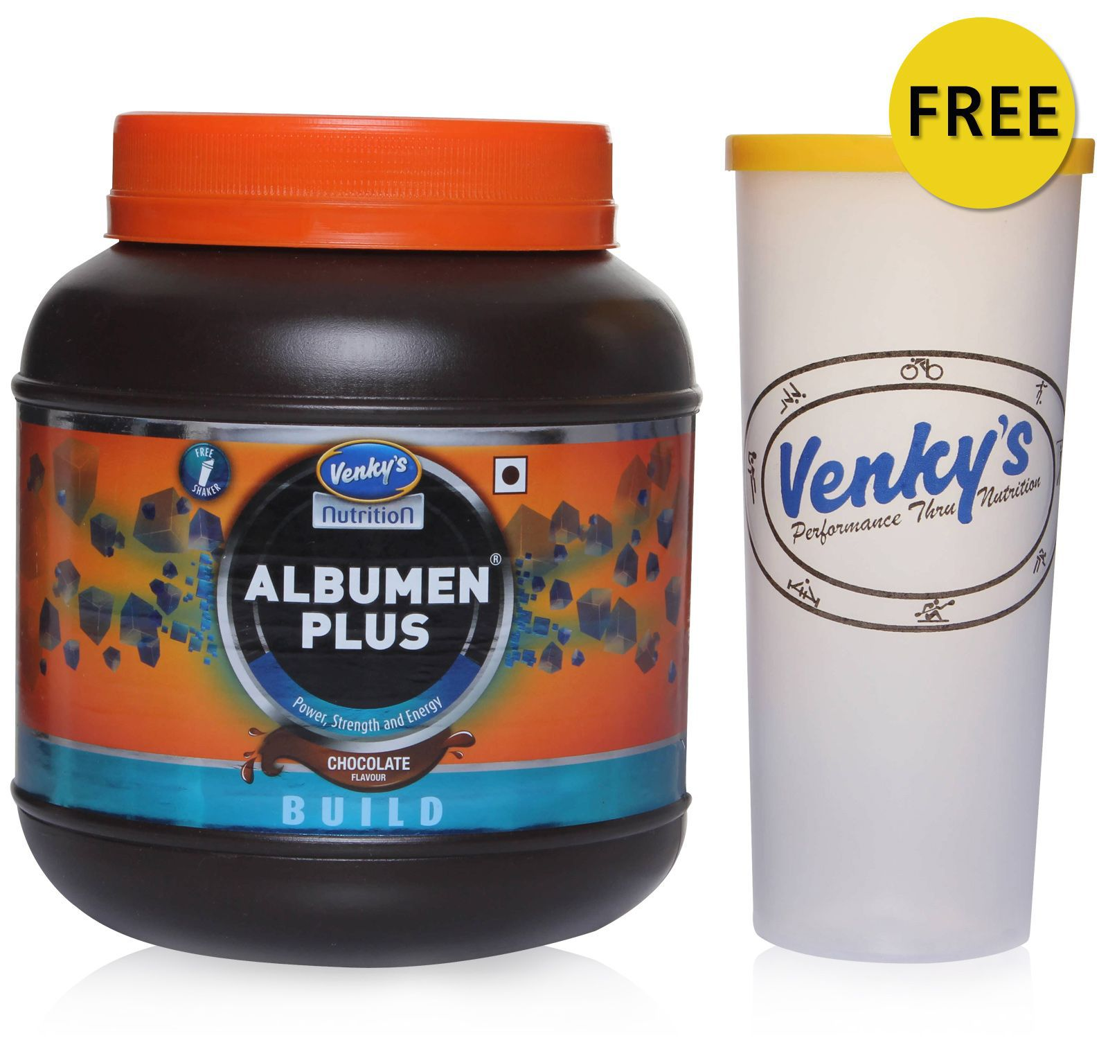 Venky's Albumen Plus 1 kg Chocolate with Free Shaker