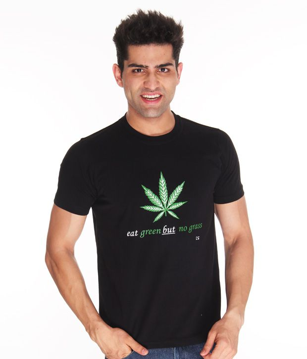 Free To Be Eat Green Black T Shirt