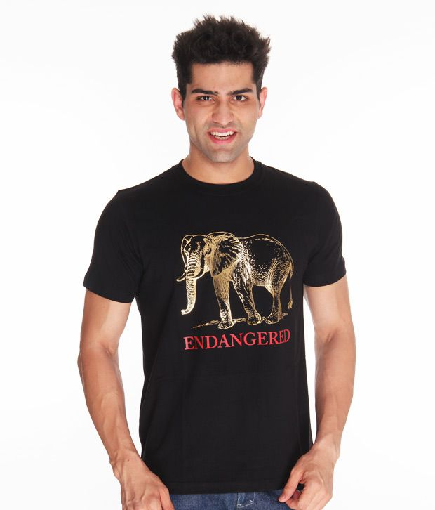 Free To Be Elephante Black T Shirt