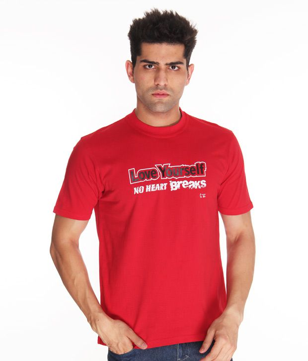 Free To Be Love Your Self Red T Shirt
