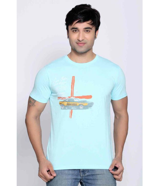 Locomotive Aqua Blue T Shirt