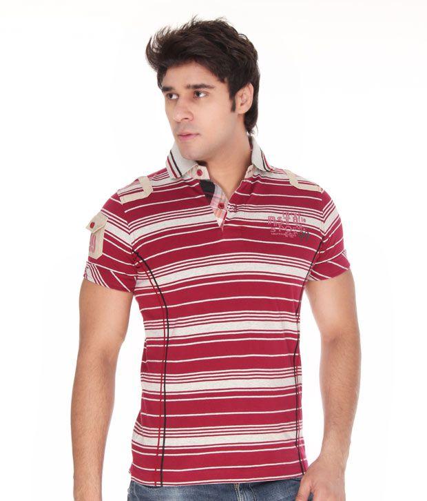 Riverstone Maroon Polo T-Shirt