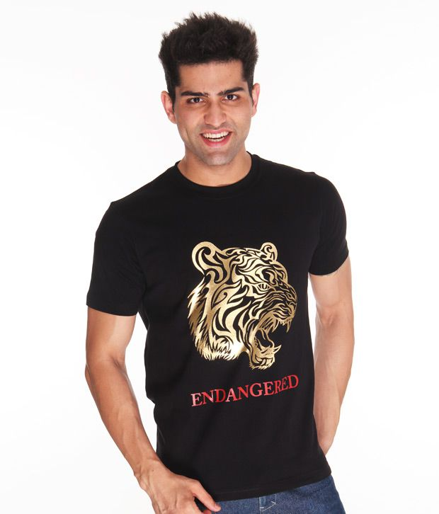 Free To Be Tiger Black T Shirt