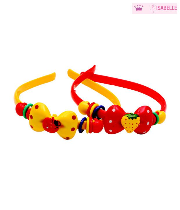 Isabelle Red & Yellow Hairband Combo For Kids