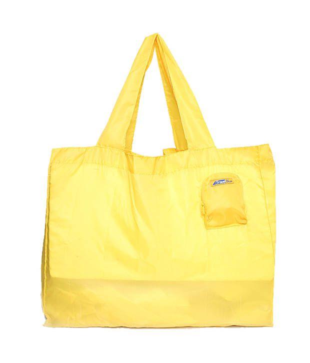 Travel Blue Yellow Foldable Mini Bag