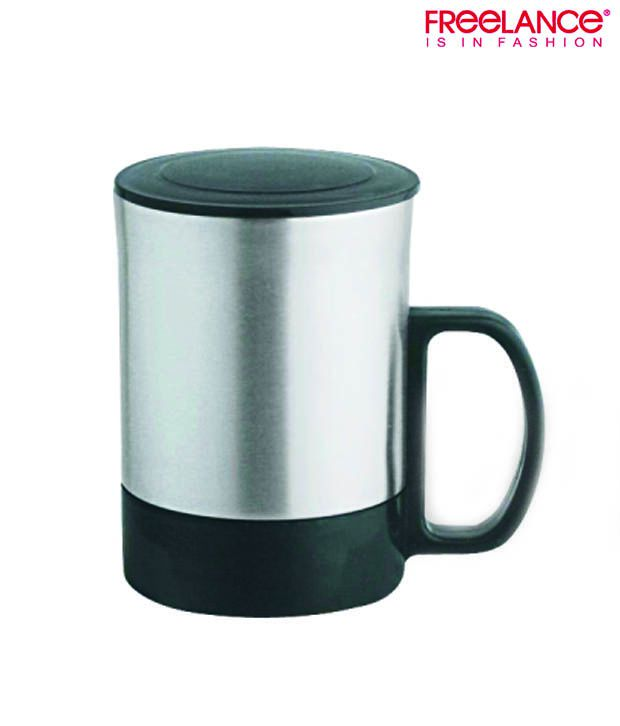 Freelance Stainless Steel Mug With Lid 250ml
