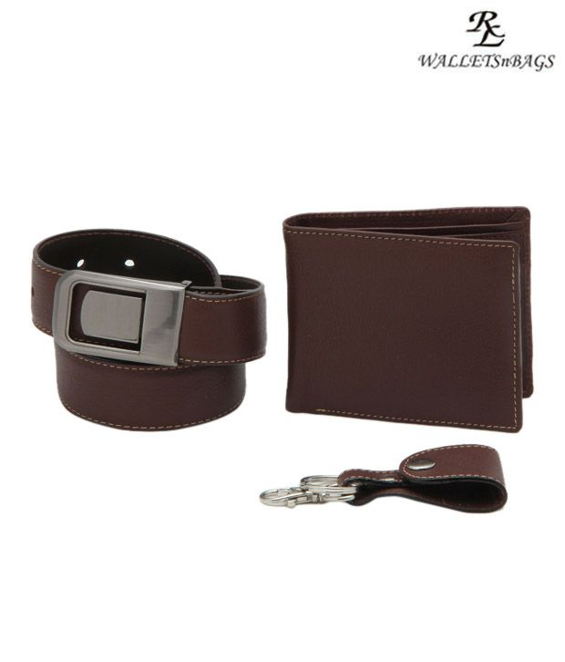WalletsnBags Brown Gift Set