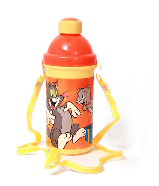 Tom & Jerry Orange & Yellow Incredible Sipper Bottle