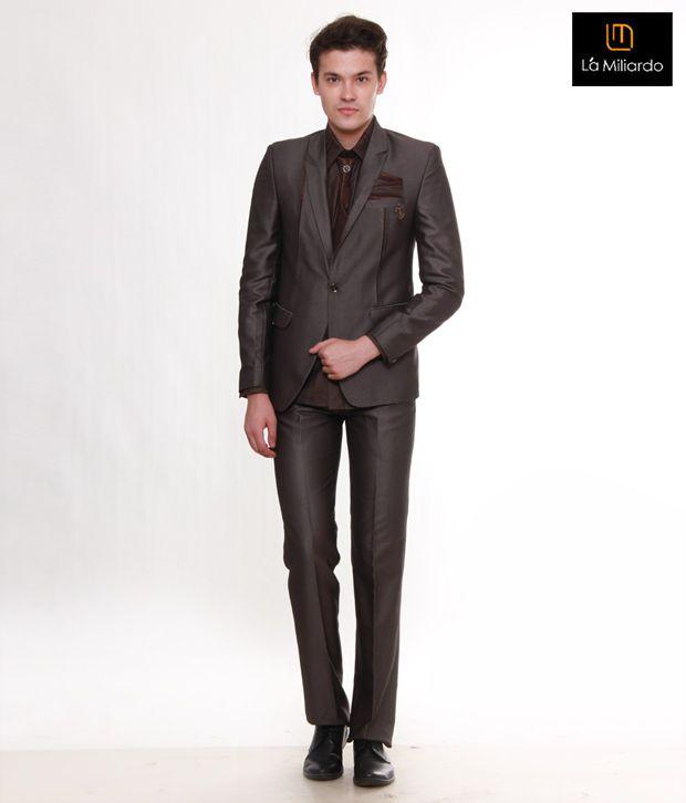 La Miliardo Classic Brown Suit