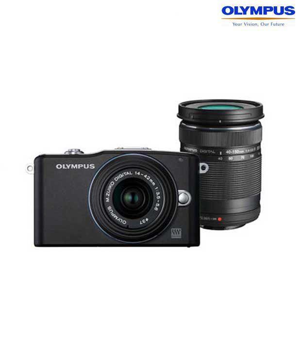 Olympus EPM 1 (Lens 14-42mm & 40- 150mm) (Black)