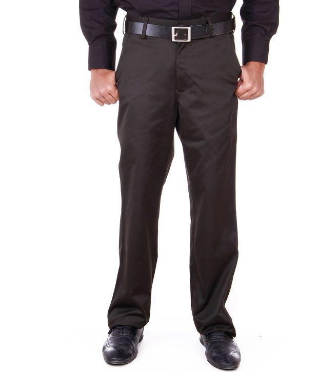 Peter England Dark Brown Formal Trouser