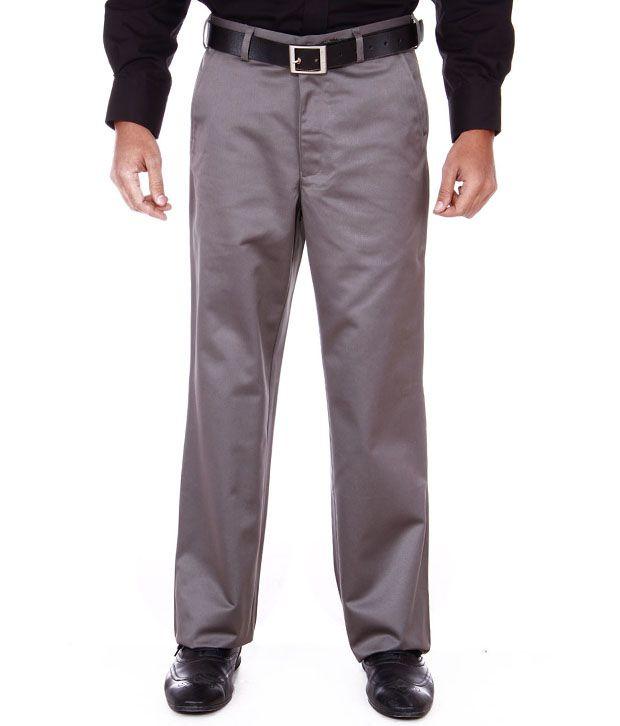 Peter England Dark Grey Formal Trouser