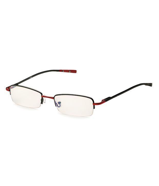 Hype Trendy Black Semi-Rimless Optical Frame
