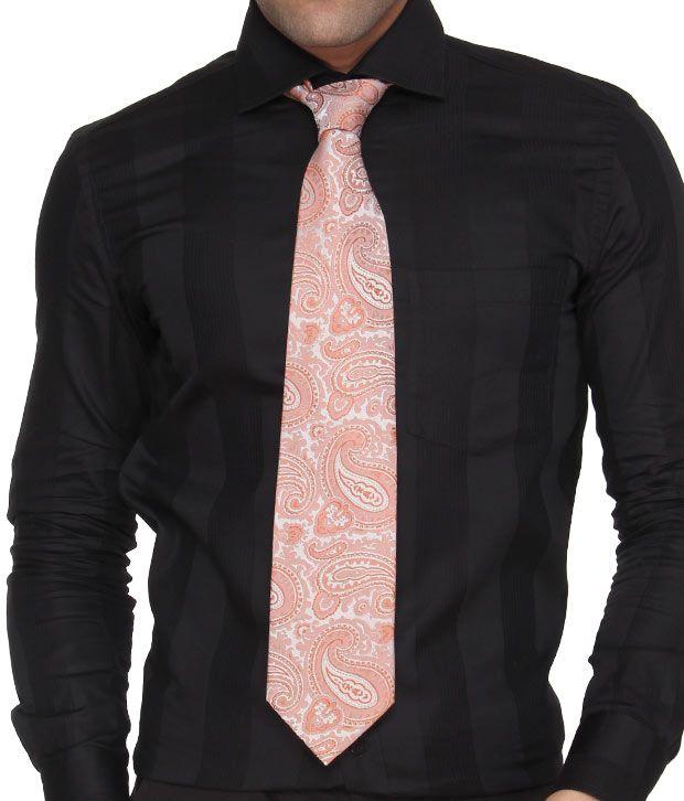 Marc Pink Paisley Pure Silk Necktie
