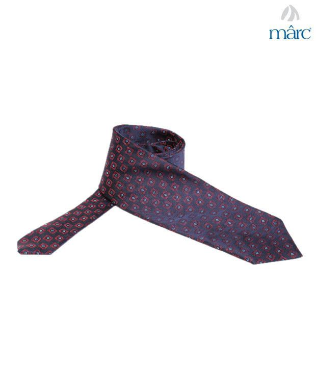 Marc Blue & Red Square Necktie