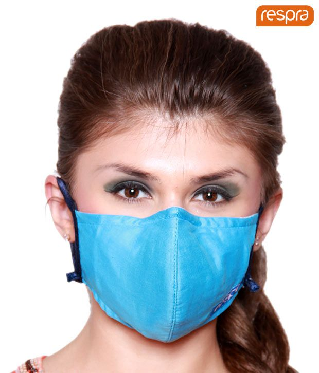 Respra - Anti Pollution Mask - Light Blue (Pack of 3)