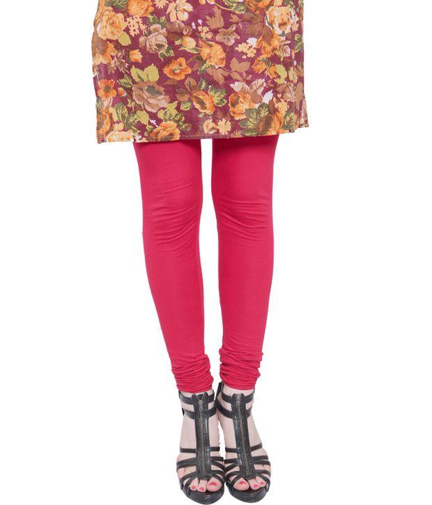Rudham Red Cotton-Lycra Leggings