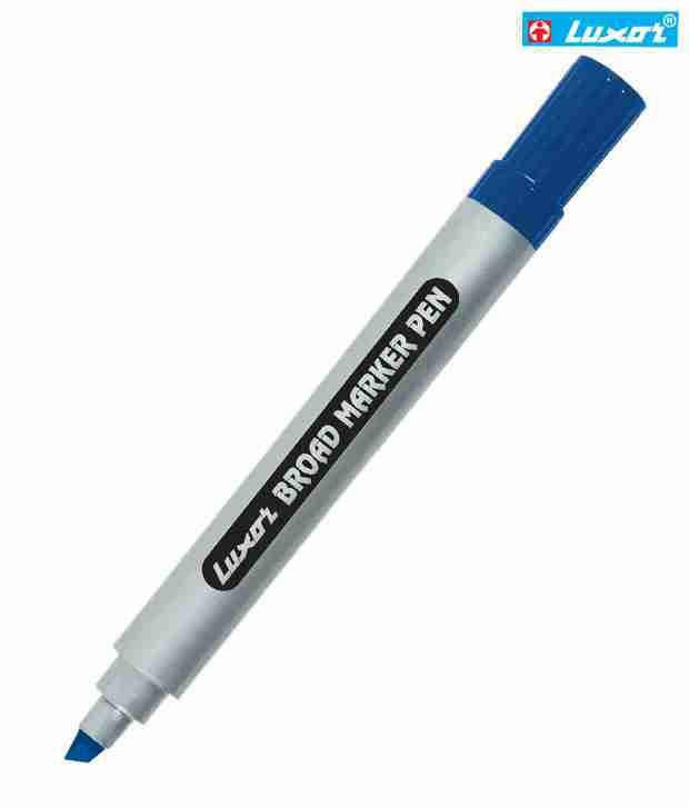 Luxor Blue Vhisel Tip Board Marker (Set Of 10 Pcs)