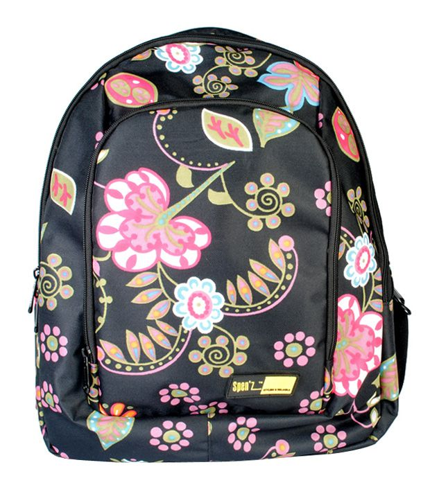 Spen'z Black-Pink Laptop Backpack