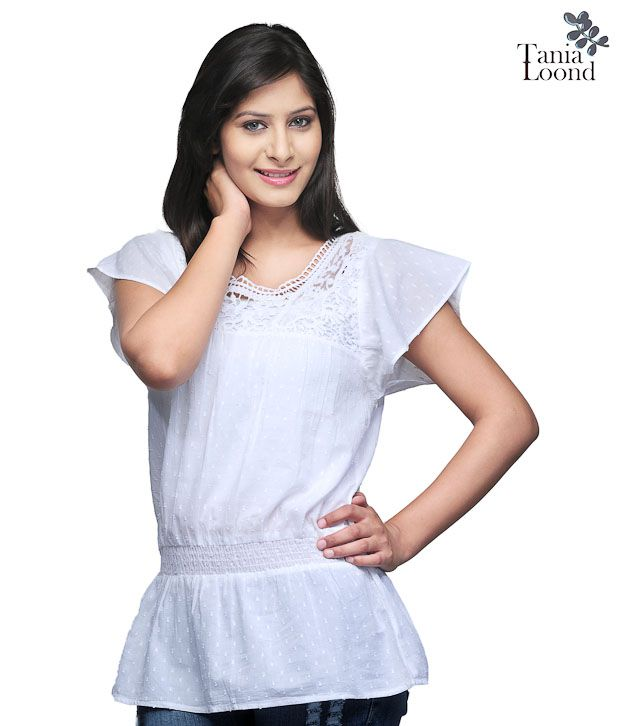 Tania Loond Casual White Top