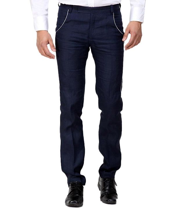 Earthen Canvas Navy Blue Men's Trouser