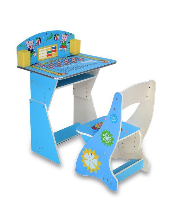 Delia my abacus kids study table blue buy delia my for Study table for 2 kids