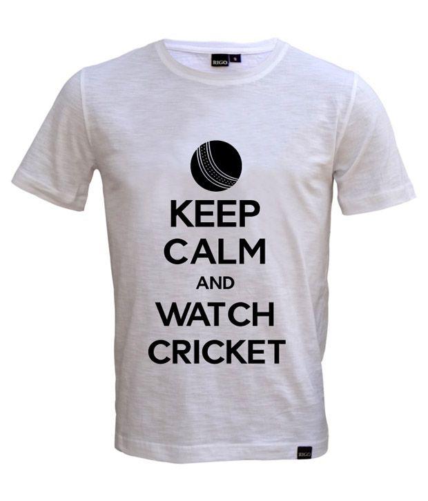 Rigo White Keep Calm T-shirt
