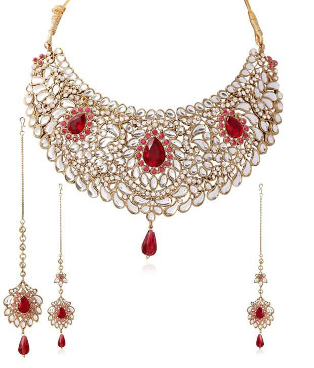 Touchstone Choker Style Royal Kundan Necklace Set