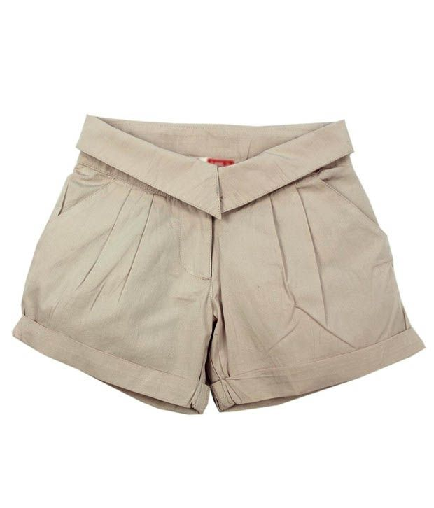 ShopperTree Trendy Beige Shorts For Kids