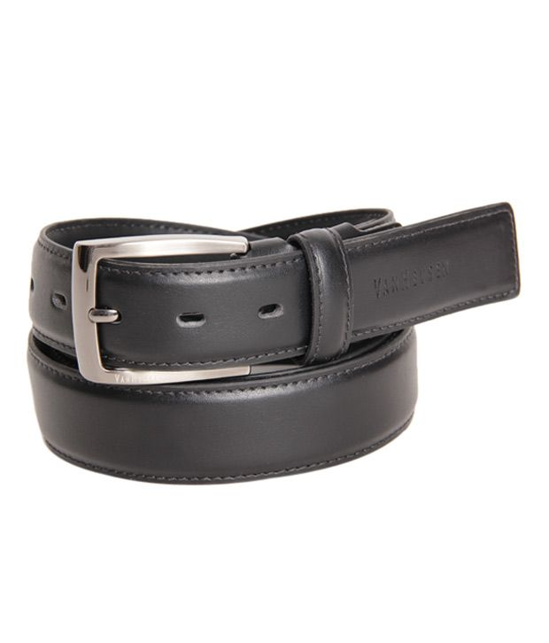 Van Heusen Contemporary Smooth Black Belt