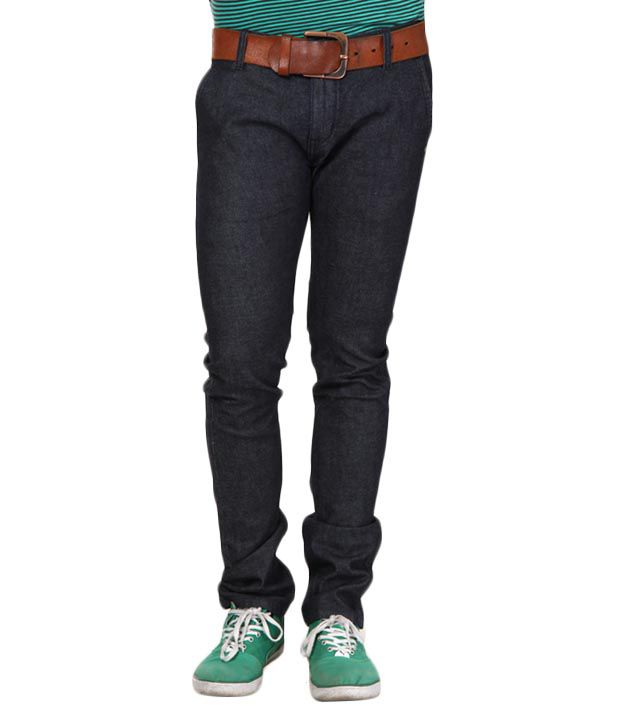 Lithium Trendy Dark Blue High Quality Jeans