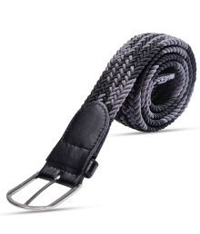Fidato Black & Grey Intertwined Design Belt