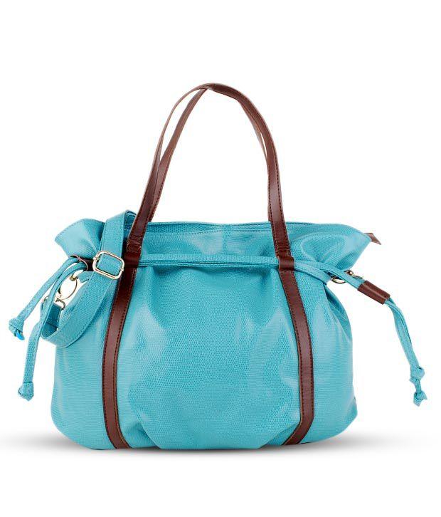 Done By None Edgy Aqua Blue Handbag