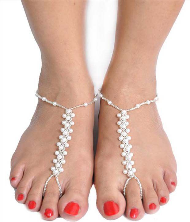 Trinketbag Pearls Style Diva Anklets & Toe-rings