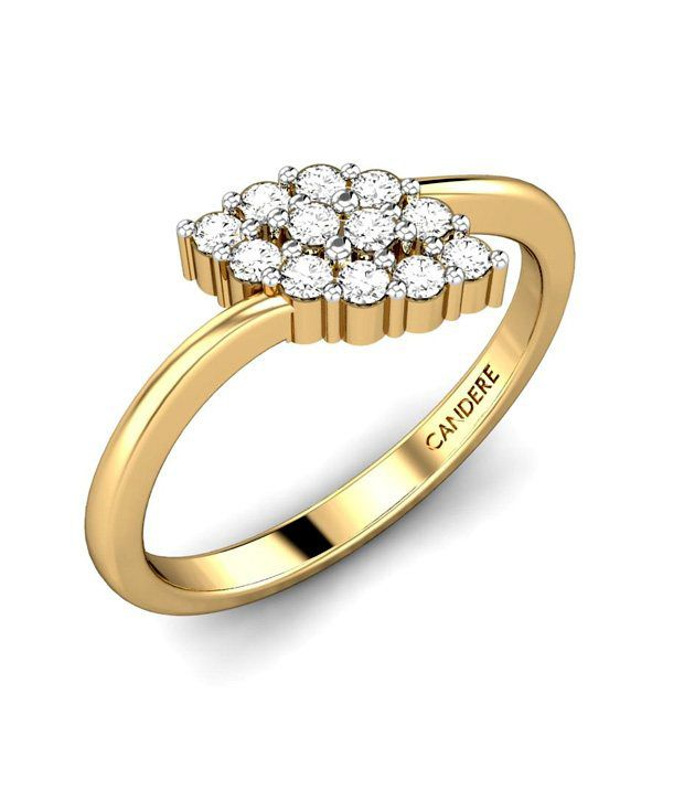 Candere Gold & Diamond Peacock Elegant Diamond Ring