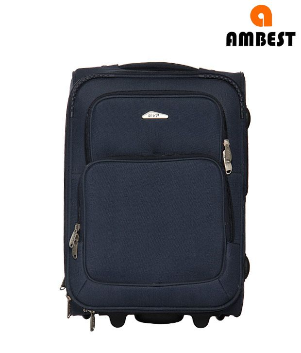 Ambest Navy Blue Trolley Bag